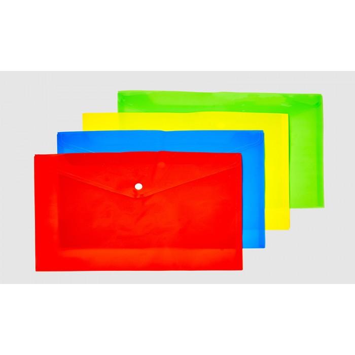 Папка-кнопка  А4_ 16мкм,матов.,23*33см 4цв. 4 шт. в упак. (50*12)