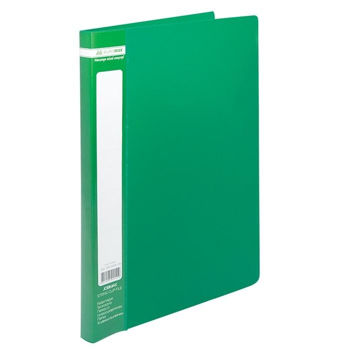 Папка A4 зі швидкошивачем, JOBMAX, зелений //