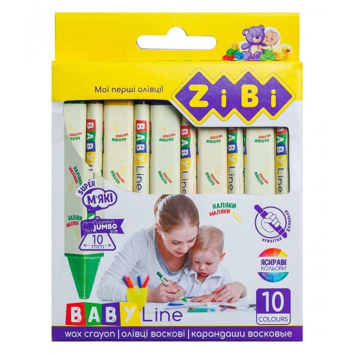 Олівці воскові JUMBO, 10 кольорів, трикутні, BABY Line