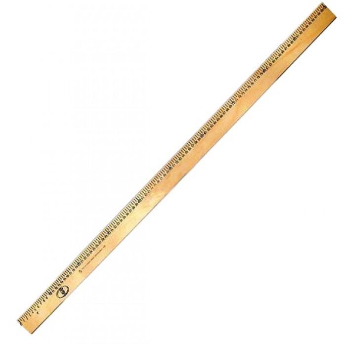 Лінійка дерев'яна 100 см (шовкографія) //