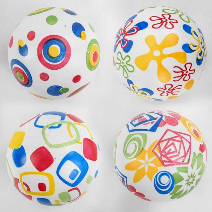 Мяч резиновый 4 вида, вес 60 грамм, размер 9`` /300/