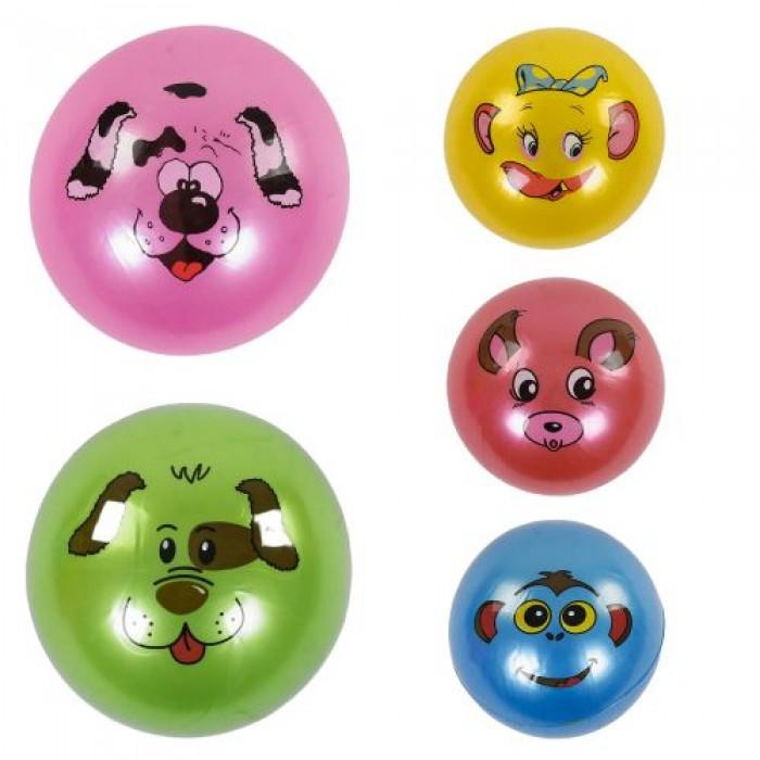 Мяч резиновый 5 видов, перламутровый, размер 9