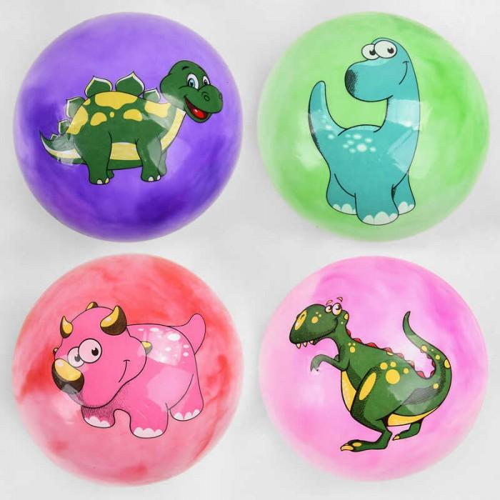 Мяч резиновый 3 вида, размер 9``, 60 грамм  /400/