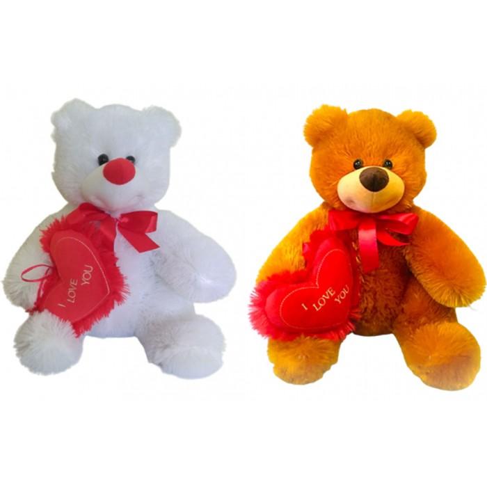 Медведь Медунец с сердечком (медовый,белый) 34*24см
