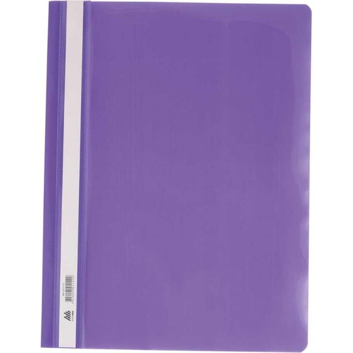Скоросшиватель пласт. А4, PP,  фиолетовый, 6шт.в уп.